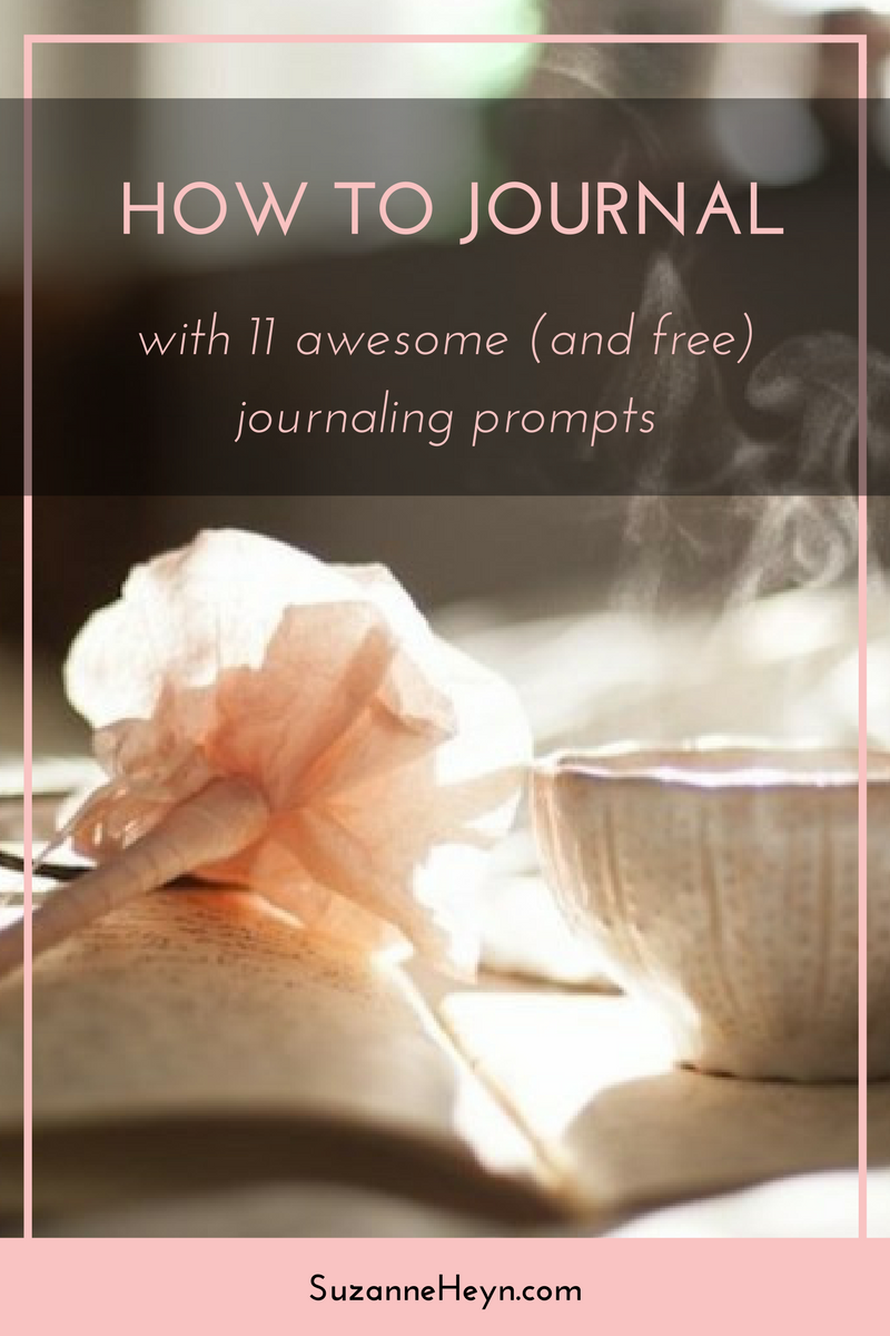 Learn how to journal. Click through for free journaling prompts.